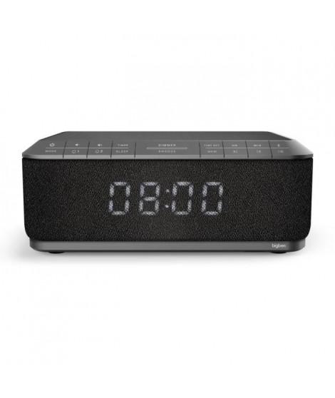 BIG BEN RR140IG Radio réveil avec chargeur sans fil par Induction - USB - Gris