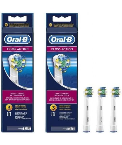 PACK : 2 x Oral-B Floss Action 3 Brossett
