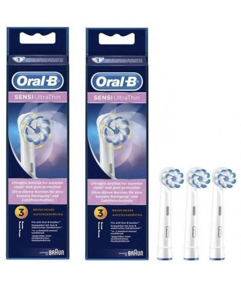 PACK: 2 x Oral-B Sensi Ultrathin Brossettes De Rechange Pour Brosse a Dents Électrique x3