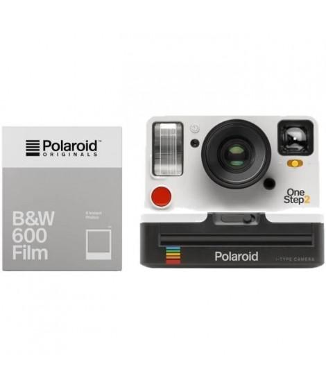Polaroid OneStep2 - Avec Viseur - Appareil photo instantané - Blanc + 8 Films  Noir & Blanc
