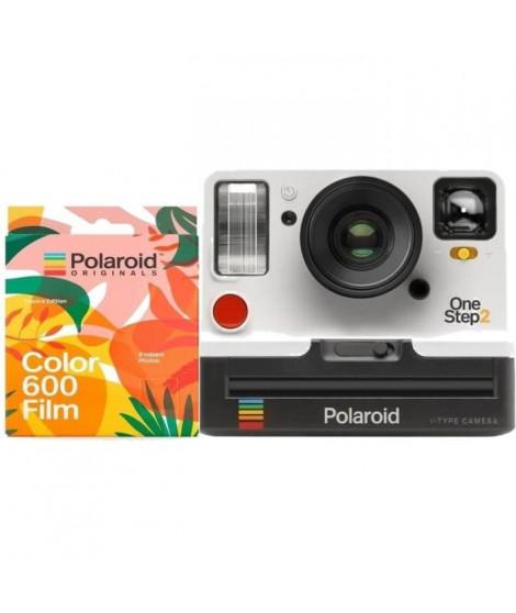 Polaroid OneStep2 - Avec Viseur - Appareil photo instantané - Blanc + 8 Films Tropics
