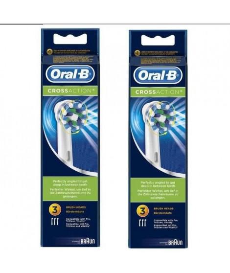 PACK 2 x Oral-B Brossettes de rechange x 3 CrossAction