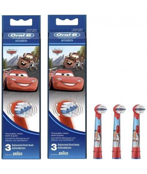 PACK 2 x Oral-B Stages Power 3 brossettes de rechange avec personnages Disney