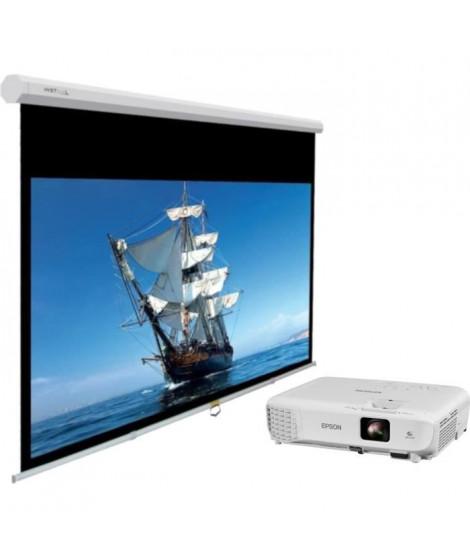 Vidéoprojecteur EPSON EB-S05 - 3LCD - SVGA 800x600 - 3200 Lumens + INSTAAL Écran de projection manuel 200 x 150