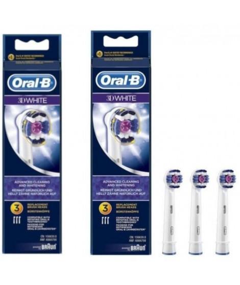 PACK 2 x Oral-B 3DWhite 3 brossettes de rechange