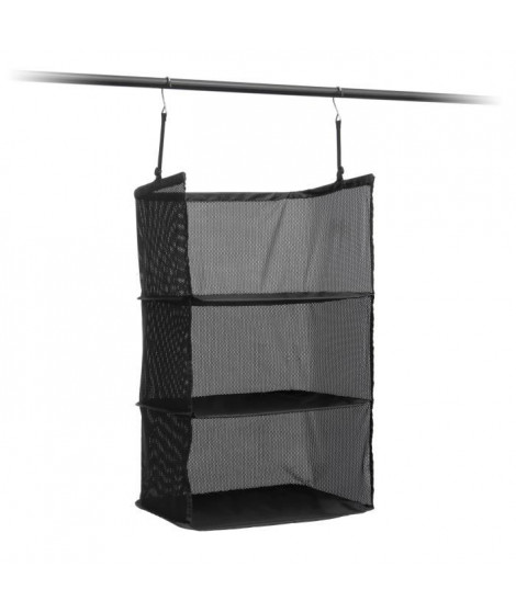 Etagere pliable - Organisateur de valise - 3 compartiments - 45 x 80 x 30 cm