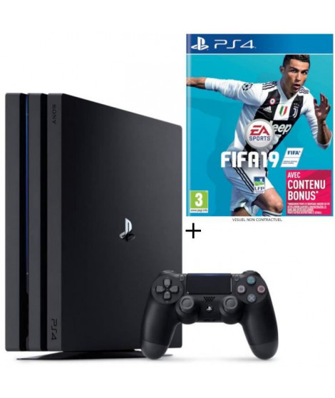 Pack PS4 Pro 1 To Noire + FIFA 19