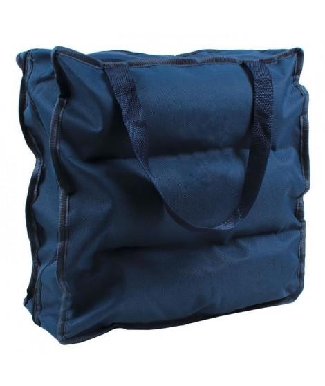 CASAME Sac de rangement 6 paires de chaussures - 37 x 34 x 16 cm - Bleu