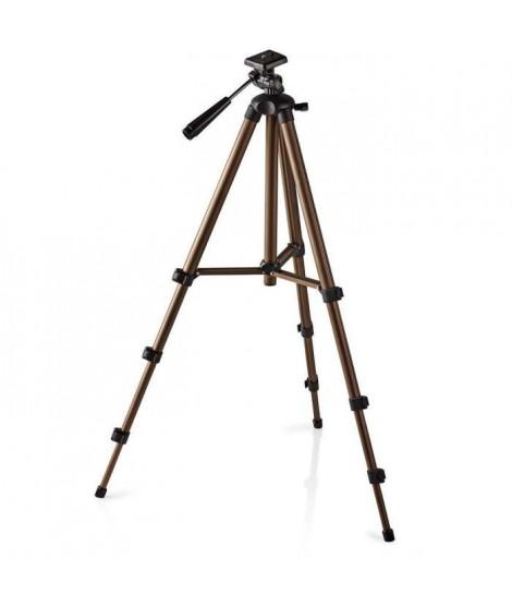 NEDIS TPOD2100BZ Trépied - Fonction Panoramique et Inclinaison - Max. 2 kg - 130 cm - Noir/Argent
