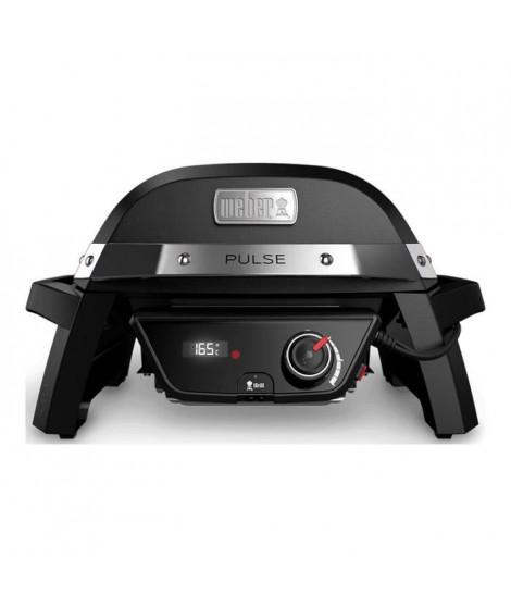 WEBER Barbecue électrique Pulse 1000 - Fonte d'acier émaillée - Noir