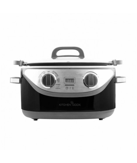 KITCHEN COOK - COOKOTTE_BLK - Multicuiseur 8 en 1 - 5,6L - 1350W - 120-220°C - Inox Noir