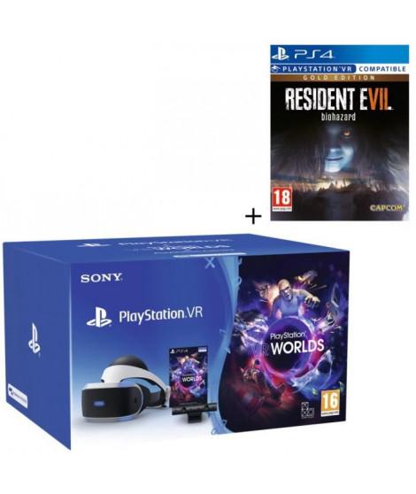 Pack PlayStation VR V2 + PlayStation Caméra + VR Worlds (a télécharger) + Resident Evil 7 : Biohazard Gold Edition