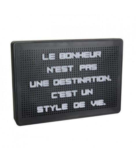 WORD Tableau a message lumineux - 200 Lettres - Noir
