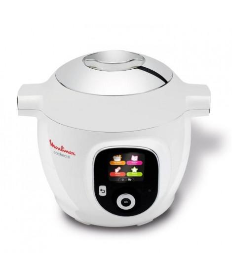 MOULINEX CE851100 Multicuiseur intelligent Cookeo+ avec 150 recettes préprogrammées - 6 L - 1600 W - Blanc