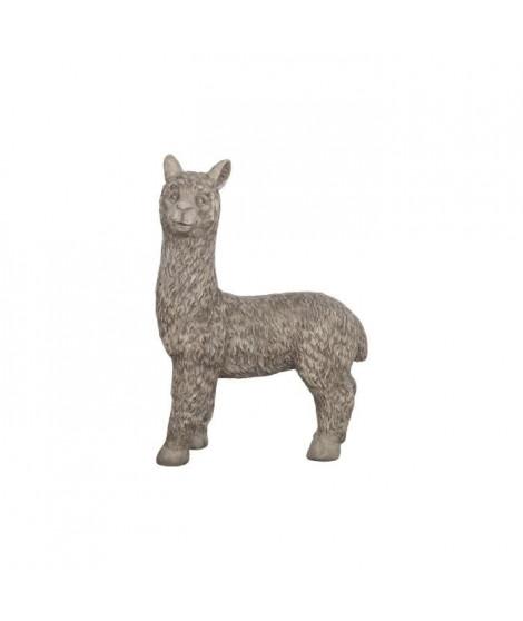 Statue lama en magnesia - 55 x 23 x 69 cm - Gris