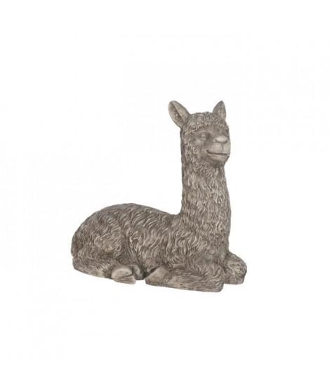 Statue lama en magnesia - 50 x 30 x 50 cm - Gris