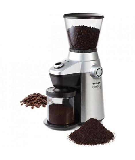 ARIETE 3017 Grinder Pro Moulin a café électrique - 150 W - 15 niveaux de broyage - Gris