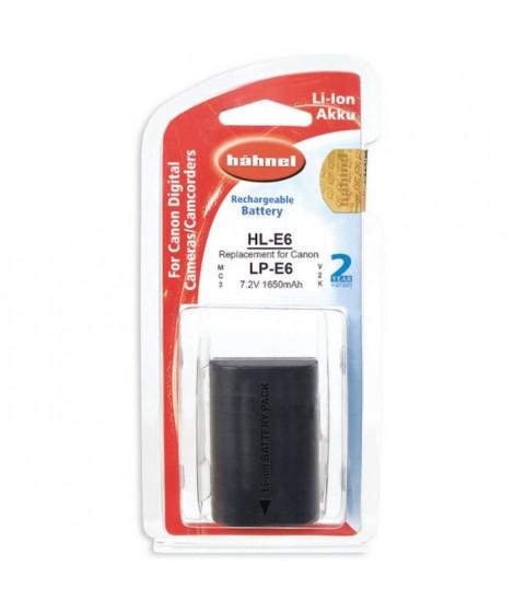 HAHNEL HLE6 Batterie li-ion conçue pour les appareils photo numériques Canon utilisant une batterie LP-E6