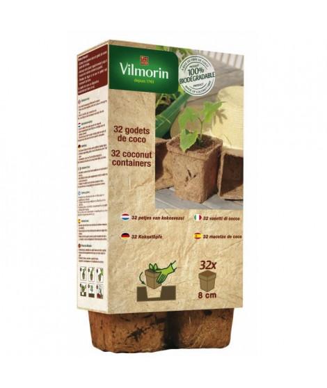 VILMORIN 32 godets coco carrés - 8 cm