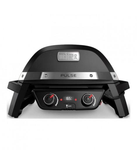 WEBER Barbecue électrique Pulse 2000 - Fonte d'acier émaillée - Noir