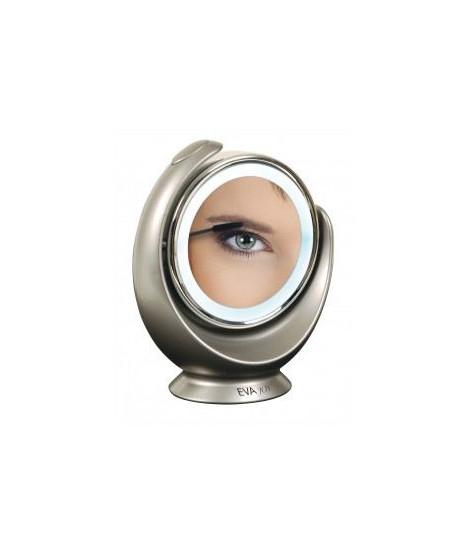Miroir grossissant lumineux x5 VITAEASY - Double face normale et grossissante X5 - Éclairage LED - Rotation 360°