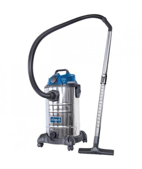 SCHEPPACH Aspirateur eau et poussiere 30L 1400W avec prise synchrone 200W + une brosse combinée, un suceur plat, un filtre mo…