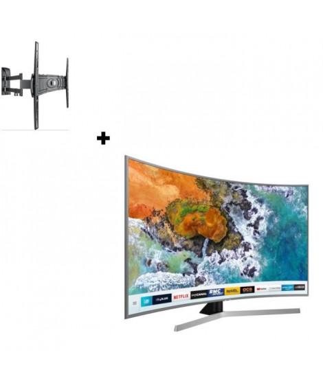 """SAMSUNG UE49NU7672 TV 4K UHD 49"""" + MELICONI Curved 400DR"""