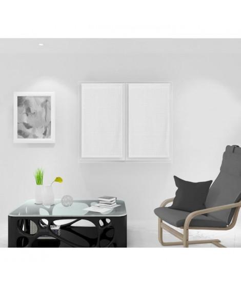 SOLEIL D'OCRE Paire de Brise bise Noémie - 45 x 90 cm - Blanc