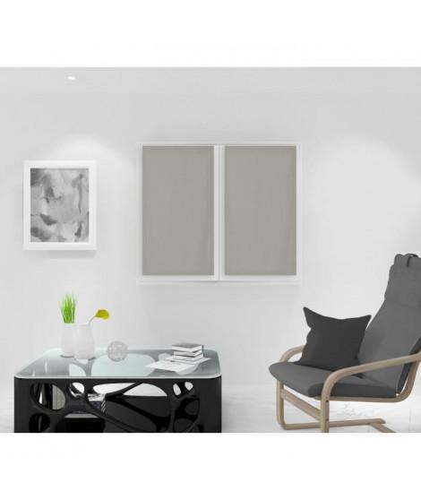 SOLEIL D'OCRE Paire de Brise bise Noémie - 45 x 90 cm - Taupe