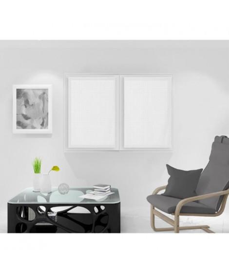 SOLEIL D'OCRE Paire de Brise bise Noémie - 60 x 90 cm - Blanc