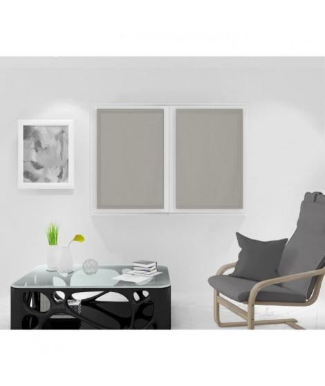 SOLEIL D'OCRE Paire de Brise bise Noémie - 60 x 90 cm - Taupe
