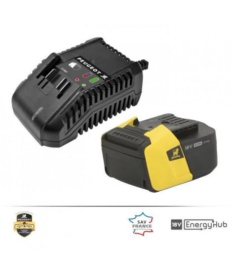 PEUGEOT Chargeur + batterie 5,0Ah - Energyhub