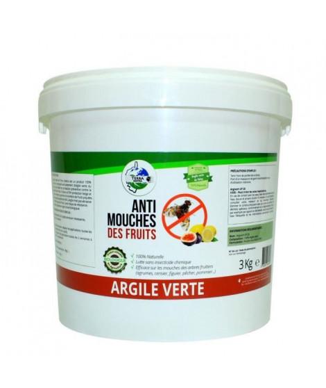 Argile verte Mouches des fruits - Seau 3 kg
