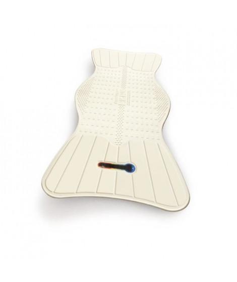 Tapis de bain AIRGO NL-785-530 - Avec guide de température - Antidérapant - Composition antimicrobienne - 80 x 40 cm