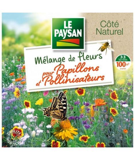 LE PAYSAN Mélange de 33 fleurs pour papillons et pollinisateurs
