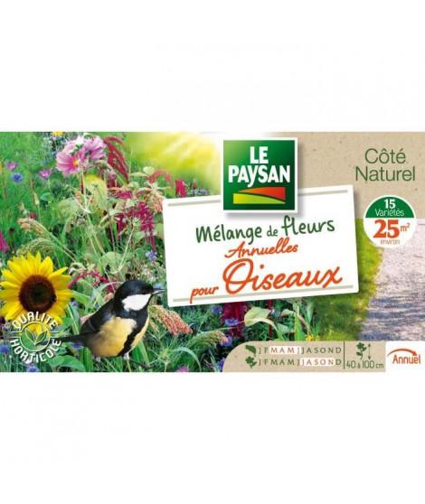 LE PAYSAN Mélange de 15 variétés de fleurs annuelles pour oiseaux