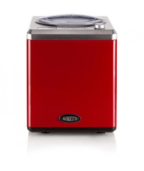 BORETTI B101 Sorbetiere automatique 2 L - 180 W - Avec compresseur - Températures -18 °C a -35 °C - Rouge