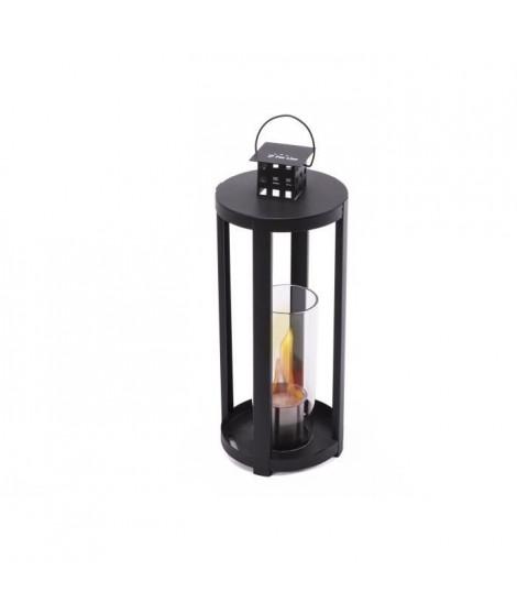 PURLINE Chaos photophore lanterne bio éthanol noir avec verre rond