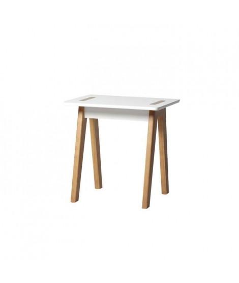 SHANA Table bout de canapé - Décor blanc ciré - L 50 x P 40 x H 50 cm