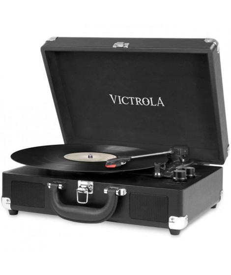 VICTROLA Platine Vinyle Valise Vintage portable Bluetooth - Noir