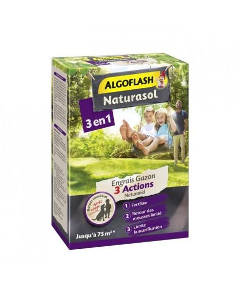 ALGOFLASH NATURASOL Engrais gazon 3 actions Naturanid - 3 kg