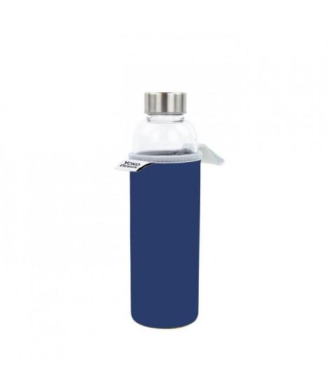 YOKO DESIGN Glass bottle avec pochette néoprene - Bleu - 500 ml