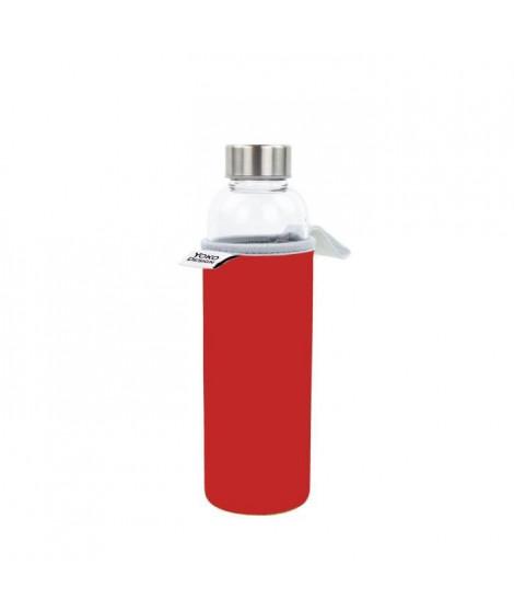 YOKO DESIGN Glass bottle avec pochette néoprene - Rouge - 500 ml