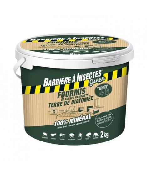 BARRIERE A INSECTES GREEN Anti-fourmis et autres rampants - Terre de Diatomée - Seau de 2 kg