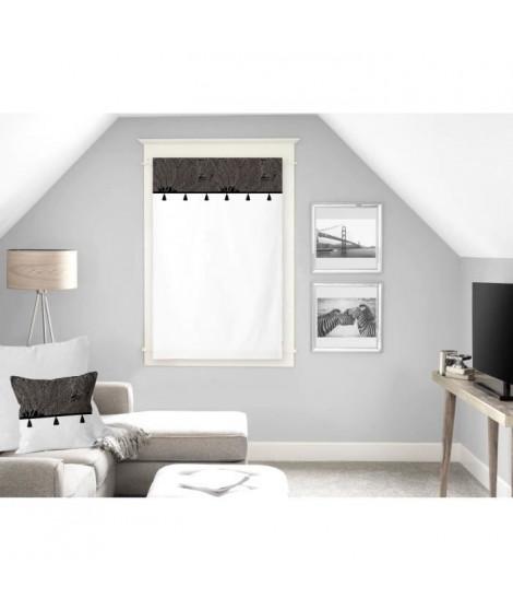 SOLEIL D'OCRE Brise bise Oasis - 100% coton - 60 x 90 cm - Noir