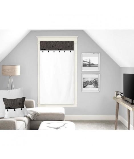 SOLEIL D'OCRE Brise bise Oasis - 100% coton - 60 x 120 cm - Noir