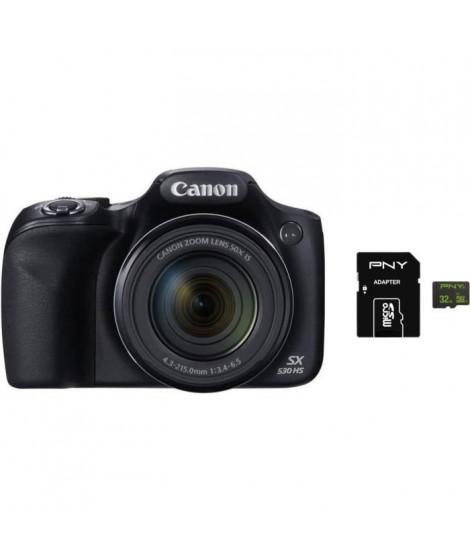 CANON POWERSHOT SX530 HS Bridge Noir + PNY Carte Micro SDXC 32 Go