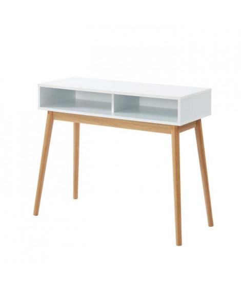 HERMAN Console style scandinave - Décor blanc - L 95 x P 38 x H 78 cm