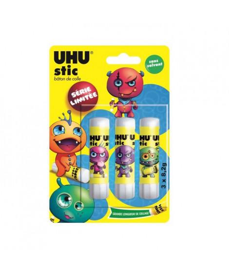 UHU Collector DRAGONS Lot 3 Sticks Blancs 8,2g