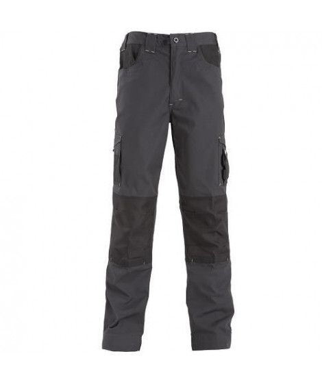 NORTH WAYS Pantalon de travail Adam - Mixte - Gris / Noir